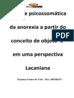 Análise Psicossomática Da Anorexia a Partir Do Conceito de Objeto - Taynara