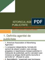 Istoricul Agentiei de Publicitate-curs 4