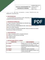 Ficha de Almacenamiento de Materiales e Insumos Fpg-19-01