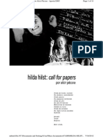 Hilda Hilst Call for Papers, Por Alcir Pécora- Agosto-2005