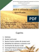 Aluatul Acid Si Utilizarile Sale in Panificatie