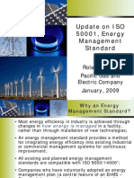 Update on ISO 50001, Energy Management Standard