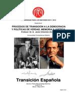 Ejercicio Procesos de Transición a La Democracia Pedro m Ortega