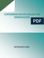 Contaminacion de Suelos y Su Remediacion