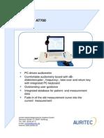 Audiometer en AT700