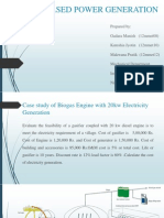 Biogas Based Power Generation System