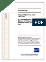 ED SPA 402 - Perimbangan Audit Terkait Dengan Entitas Yang Menggunakan Suatu Organisasi Jasa