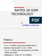 Data Rates in Gsm