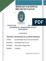 METODOS Y METODOLOGIA DE LA CIENCIA ECONOMICA