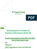 Factors Affecting Shelf Life of Fried Snack Foods