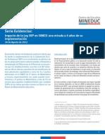 Impacto de La Ley SEP en SIMCE 2012
