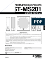 Yamaha Ystms201 Speaker System Service Manual