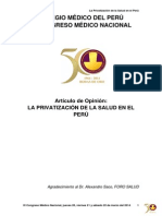 h. La Privatización de La Salud en El Perú