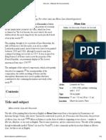 Mona Lisa - Wikipedia, The Free Encyclopedia