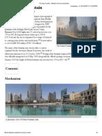 The Dubai Fountain - Wikipedia, The Free Encyclopedia