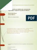La Legislación en Materia de Convivencias. SEB-SEP. Junio 2014