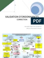 Validation d'Ordonnance 2012 -2013