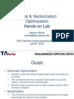 6b-Serial Vect Opt Lab 2013