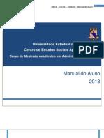Manual Do Aluno - 2013