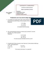 Problemario Con El Uso de Del Código Algebraico