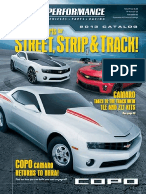 2013 Gm Performance Parts Catalog Chevrolet Wheeled Vehicles