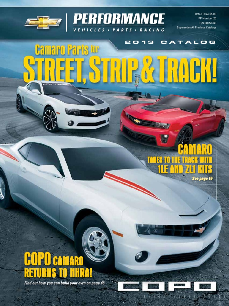 2013 Gm Performance Parts Catalog | Chevrolet | Wheeled Vehicles Ramjet Zl Wiring Diagram on