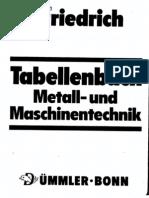 Tabellenbuch Mettal Und Maschinentechnik