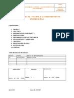 Proceso Para El Control y Mantenimiento de Proveedores