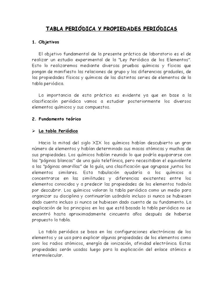 Tabla peridica y propiedades peridicas urtaz Gallery