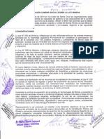 Resolucion Cumbre Ley Minera