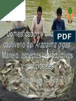 Domesticacion y Crianza en Cautiverio Del Arapaima Gigas Manejo, Aspectos Reproductivos y Nutricionales