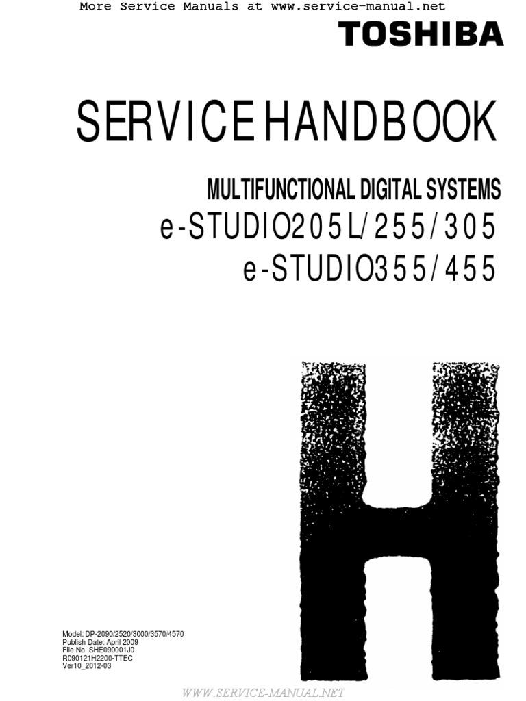 E-Studio 205L, 255, 305, 355, 455 MFP Service Handbook | Microsoft Windows  | Image Scanner
