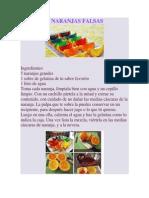 Gelatina Naranjas Falsas