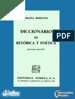 Beristáin, Helena. Diccionario de Retórica y Poética