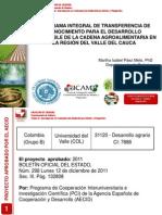 Desarrollo Sostenible de La Cadena Agroalimentaria 2012