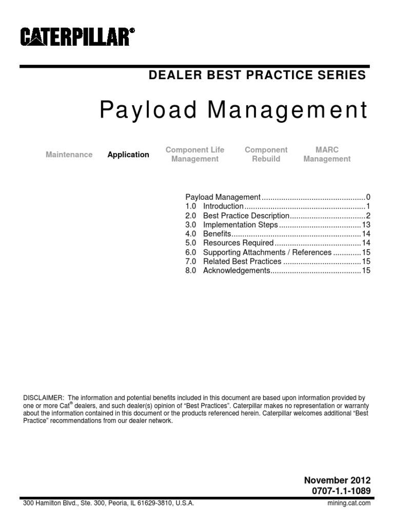 Cat BP_Payload Management   Truck   Suspension (Vehicle)