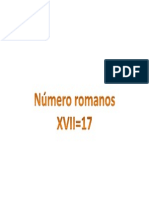 Números Romanos 17