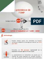 BVA Pour I Télé - CQFD - Le Parisien - La Présidence de l'UMP