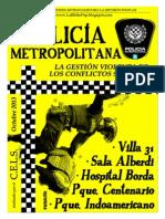 Policía Metropolitana. La gestión violenta de los conflictos sociales - C.E.L.S.