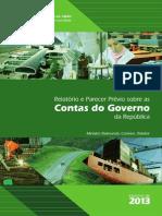 Relatório e  Parecer Prévio do TCU sobre as Contas da Presidente da República - 2013