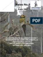 Conservación Ognorhynchus Icterotis.aleteo