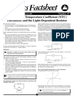 The Negative Temperature Coefficient (NTC) Thermistor and the Light Dependent Resistor