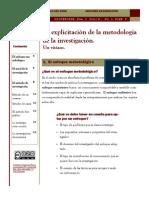 La Explicitación de La Metodología de La Investigación