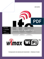 Comparacion LTE Wimax WIFI