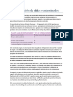 Caracterización de Sitios Contaminados