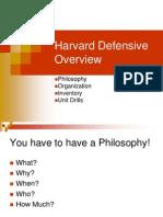 Harvard 4-3 Defensive Overview