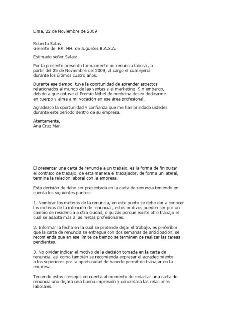 Modelo Demanda Indemnizacion y Carta de Terminacion Contrato