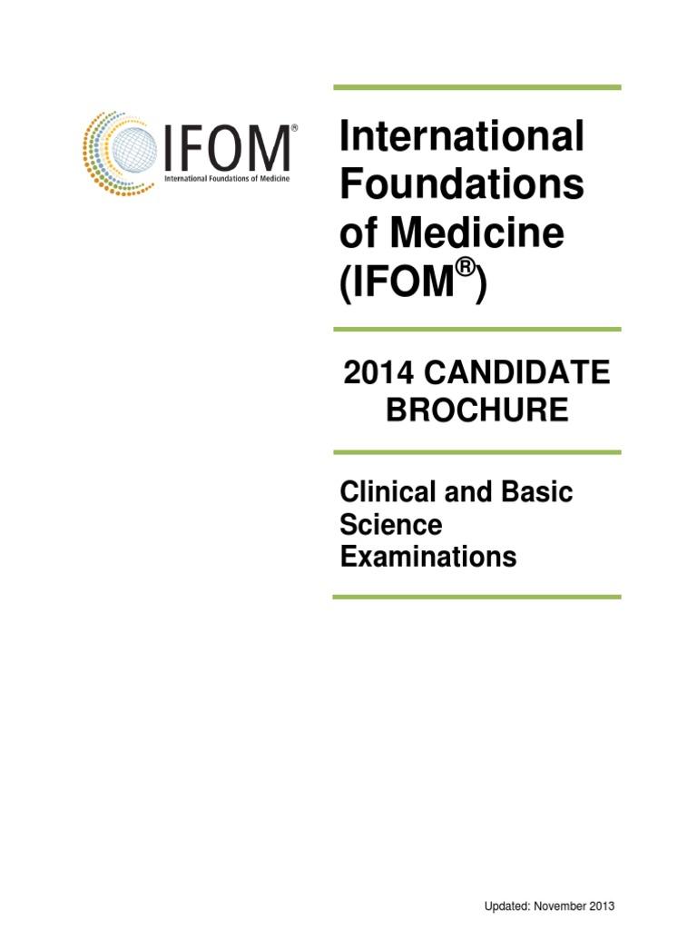 IFOM CandidateBrochure | Identity Document | Test (Assessment)