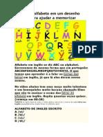 Abaixo o Alfabeto Em Um Desenho Bonito Para Ajudar a Memorizar