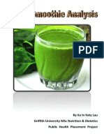 Green Smoothie Report (Finalised Work) - PDF